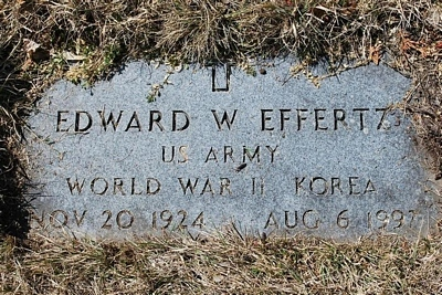 Edward William Effertz Gravestone - source: Brandee Lada - Find A Grave