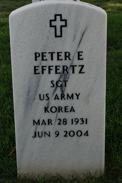 Peter Edgar Effertz Gravestone - source: Find A Grave